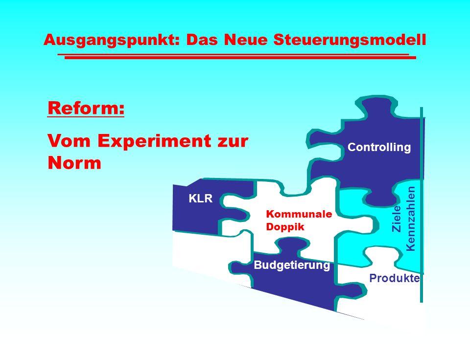 Ausgangspunkt: Das Neue Steuerungsmodell