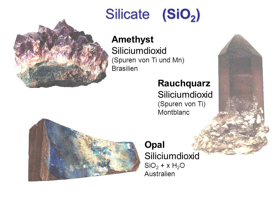 Silicate (SiO2) Amethyst Siliciumdioxid Rauchquarz Siliciumdioxid Opal