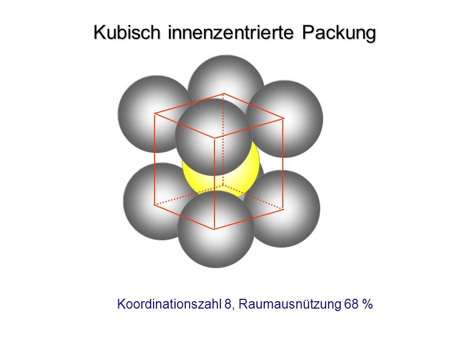 Kubisch innenzentrierte Packung