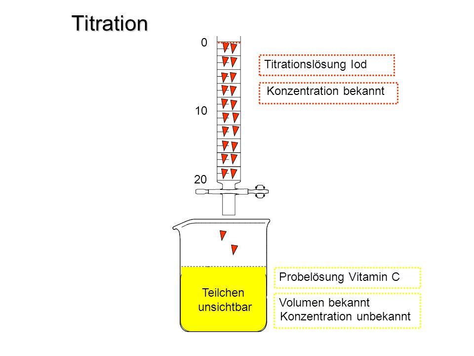 Titration Titrationslösung Iod Konzentration bekannt 10 20