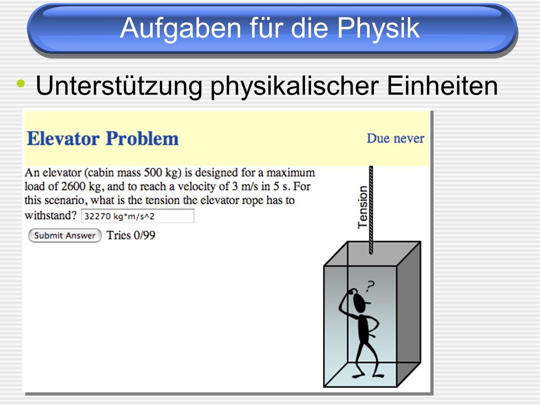 Aufgaben für die Physik