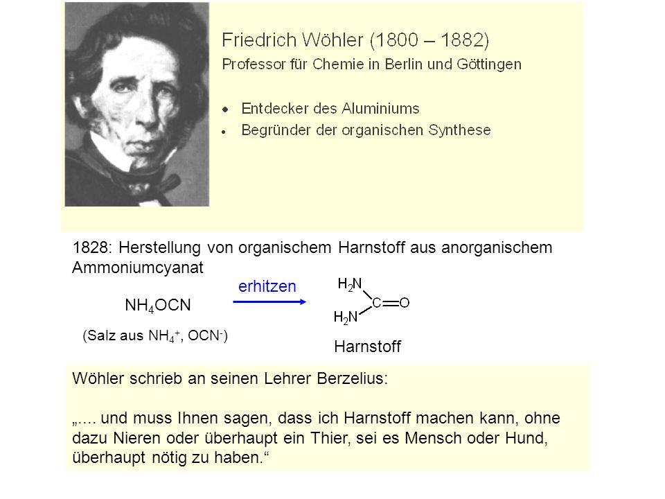 Wöhler schrieb an seinen Lehrer Berzelius:
