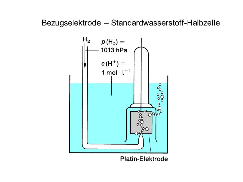 Bezugselektrode – Standardwasserstoff-Halbzelle