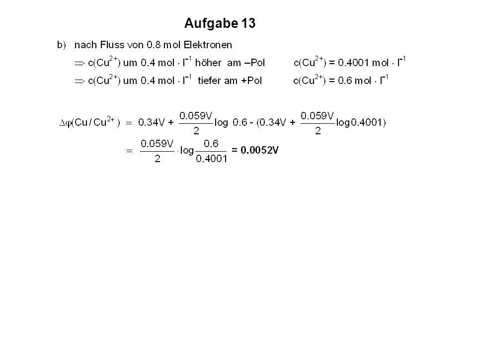 Aufgabe 13 a) b) Potenzial j (V)