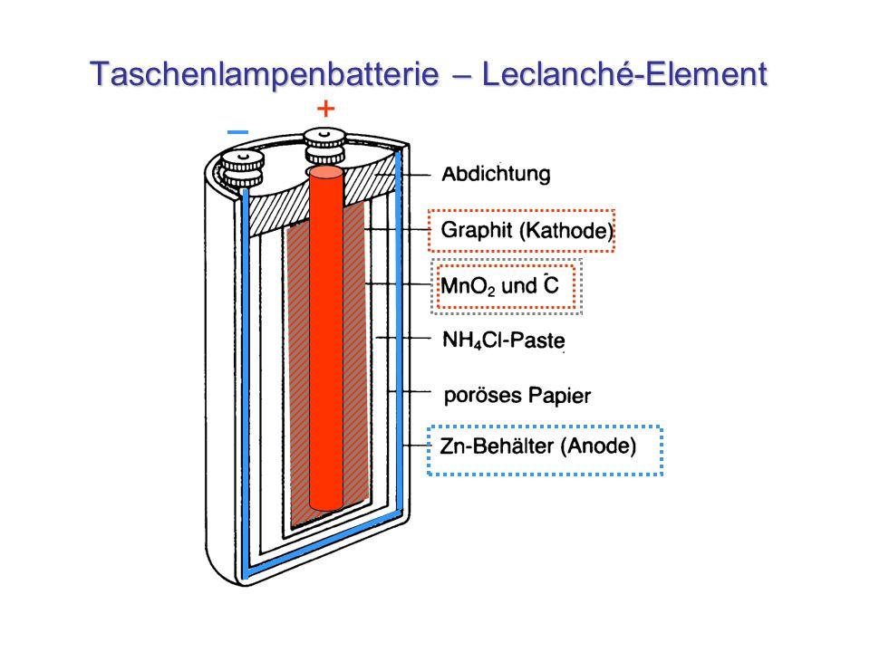 Taschenlampenbatterie – Leclanché-Element
