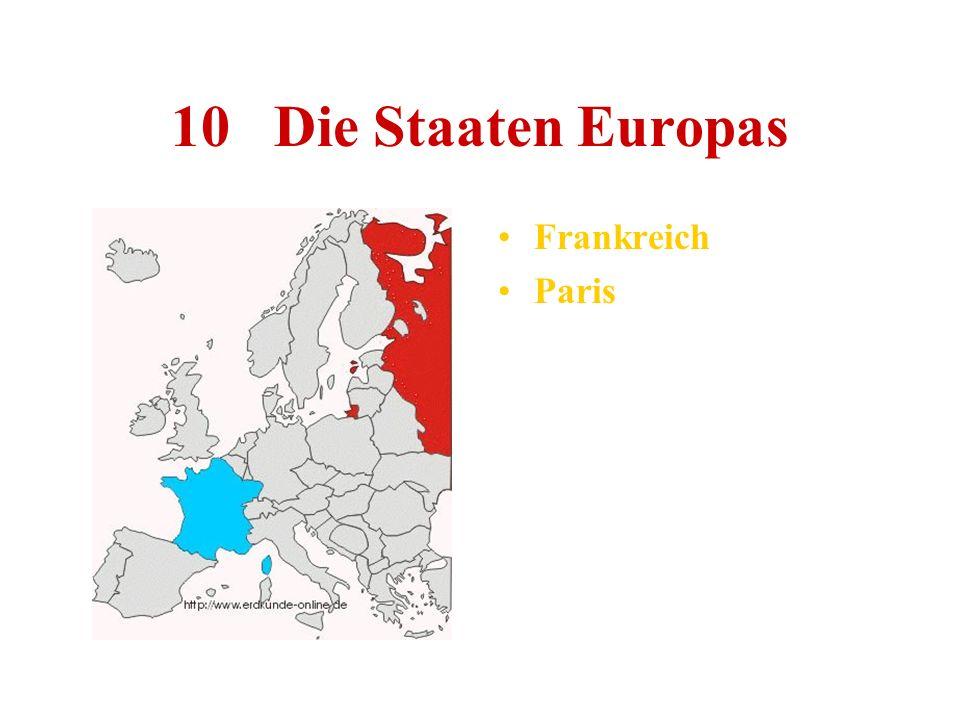 10 Die Staaten Europas Frankreich Paris