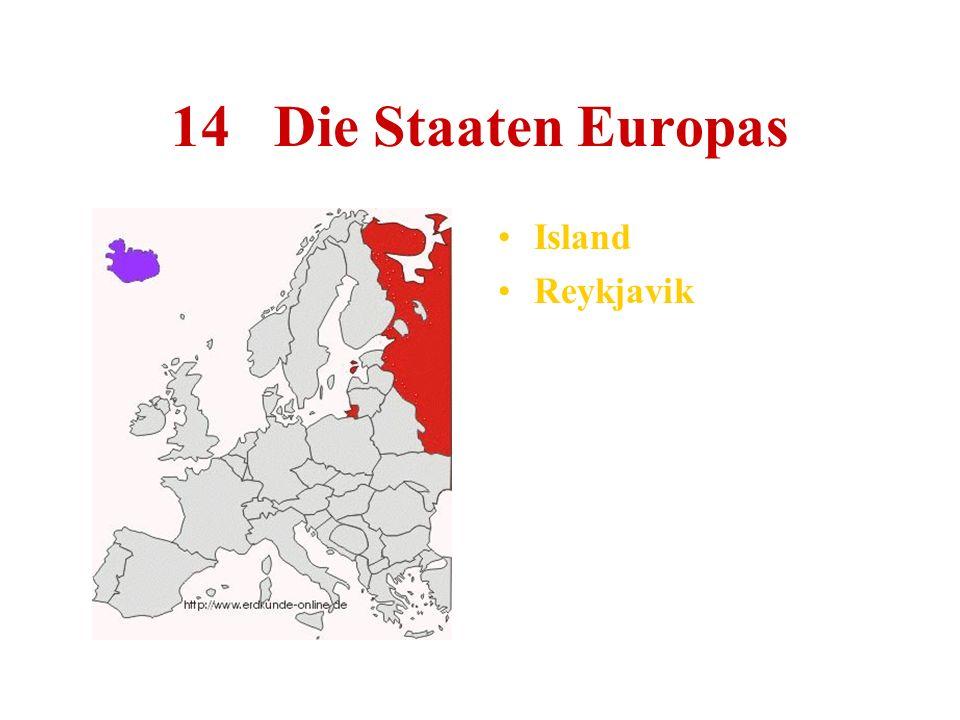 14 Die Staaten Europas Island Reykjavik