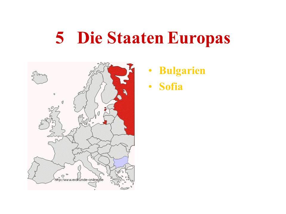 5 Die Staaten Europas Bulgarien Sofia