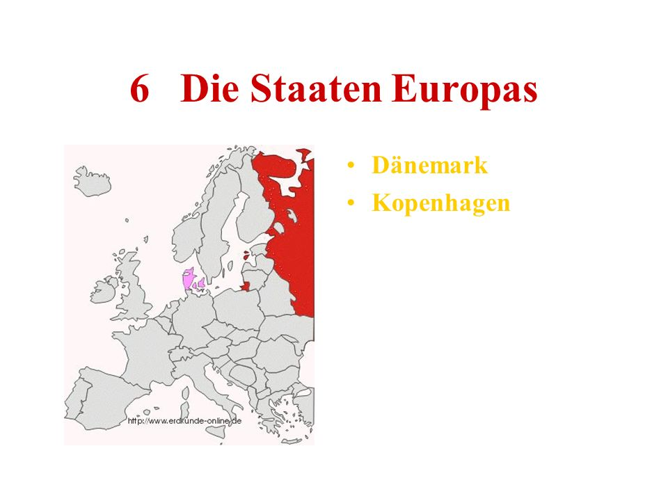 6 Die Staaten Europas Dänemark Kopenhagen