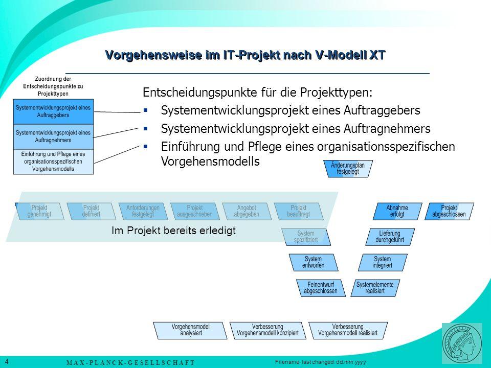Vorgehensweise im IT-Projekt nach V-Modell XT