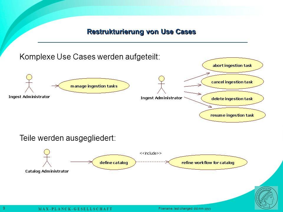 Restrukturierung von Use Cases