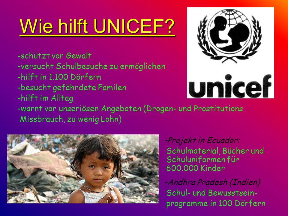 Wie hilft UNICEF -schützt vor Gewalt