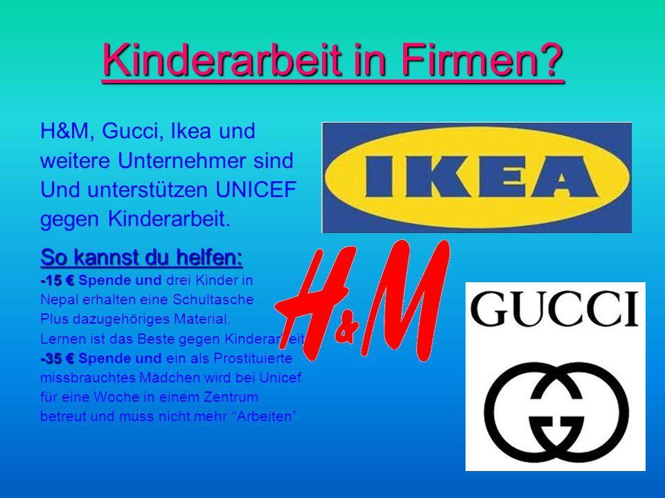 Kinderarbeit in Firmen