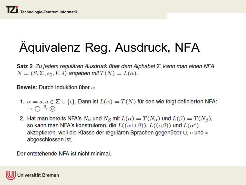 Äquivalenz Reg. Ausdruck, NFA