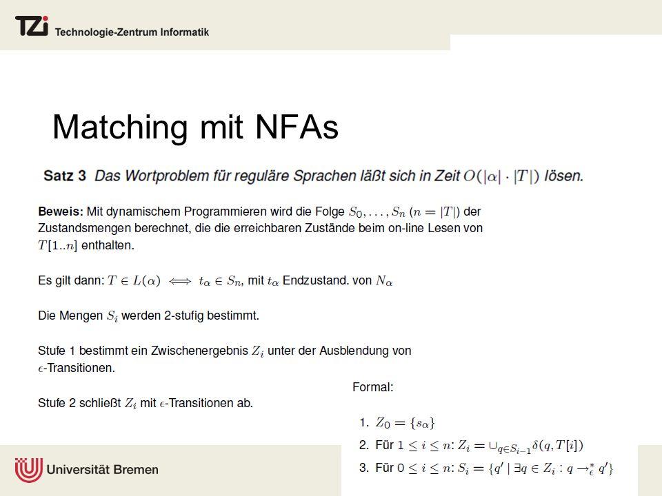 Matching mit NFAs