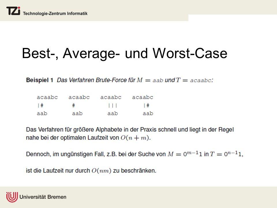 Best-, Average- und Worst-Case