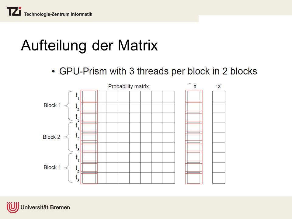 Aufteilung der Matrix