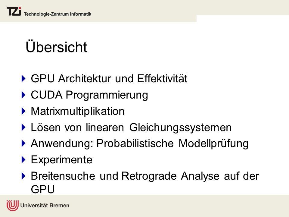 Übersicht GPU Architektur und Effektivität CUDA Programmierung