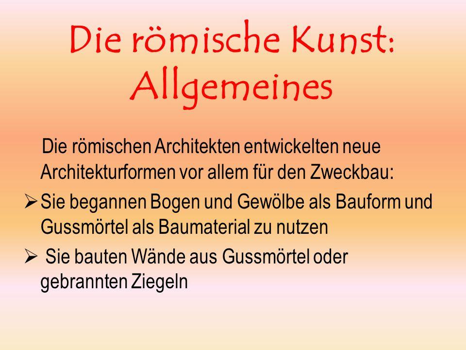 Die römische Kunst: Allgemeines