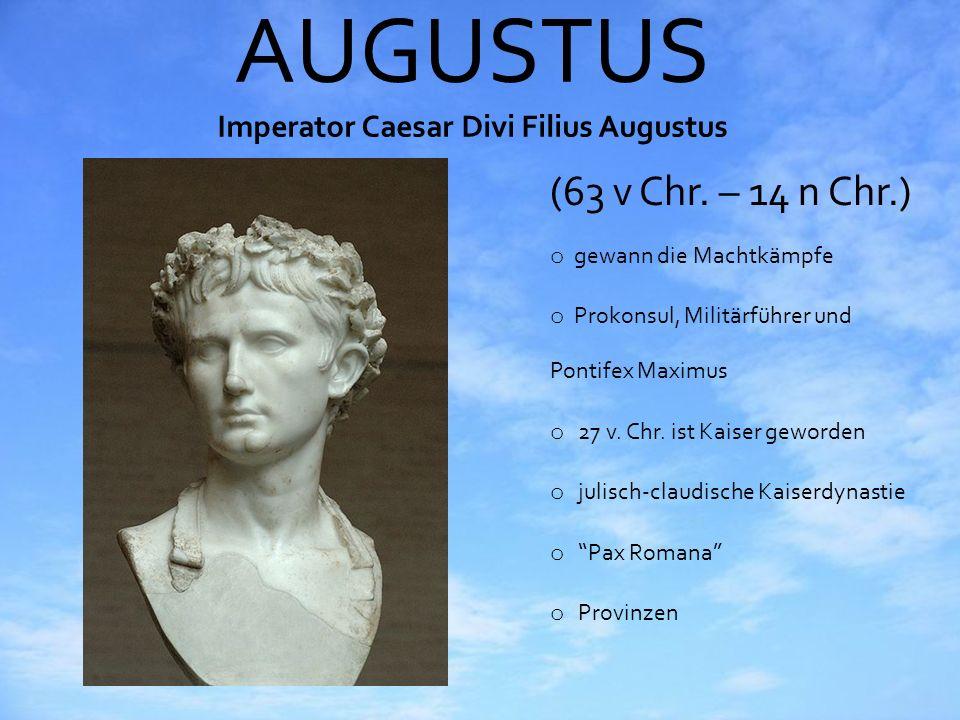 AUGUSTUS Imperator Caesar Divi Filius Augustus