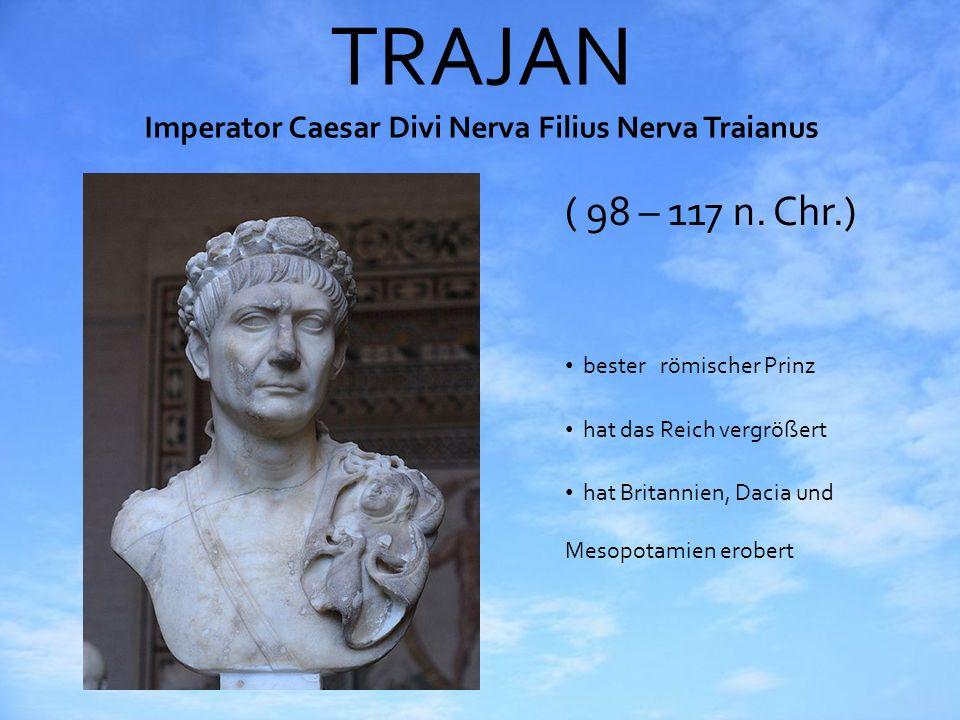 TRAJAN Imperator Caesar Divi Nerva Filius Nerva Traianus