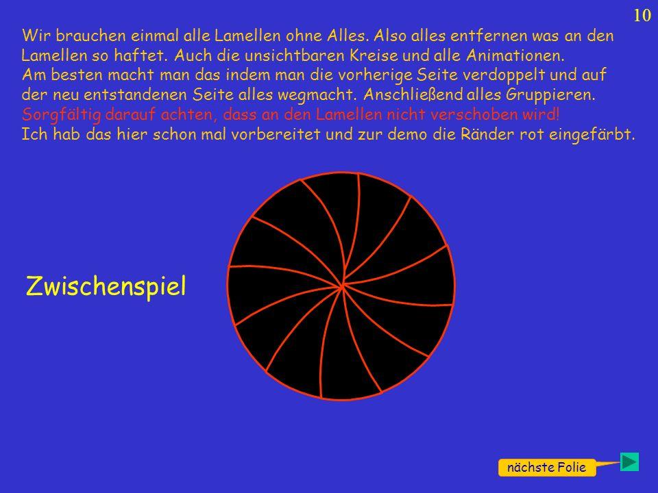 """A Z Die """"schließen der Lamellen-Animation bekommt hier ein Häkchen."""