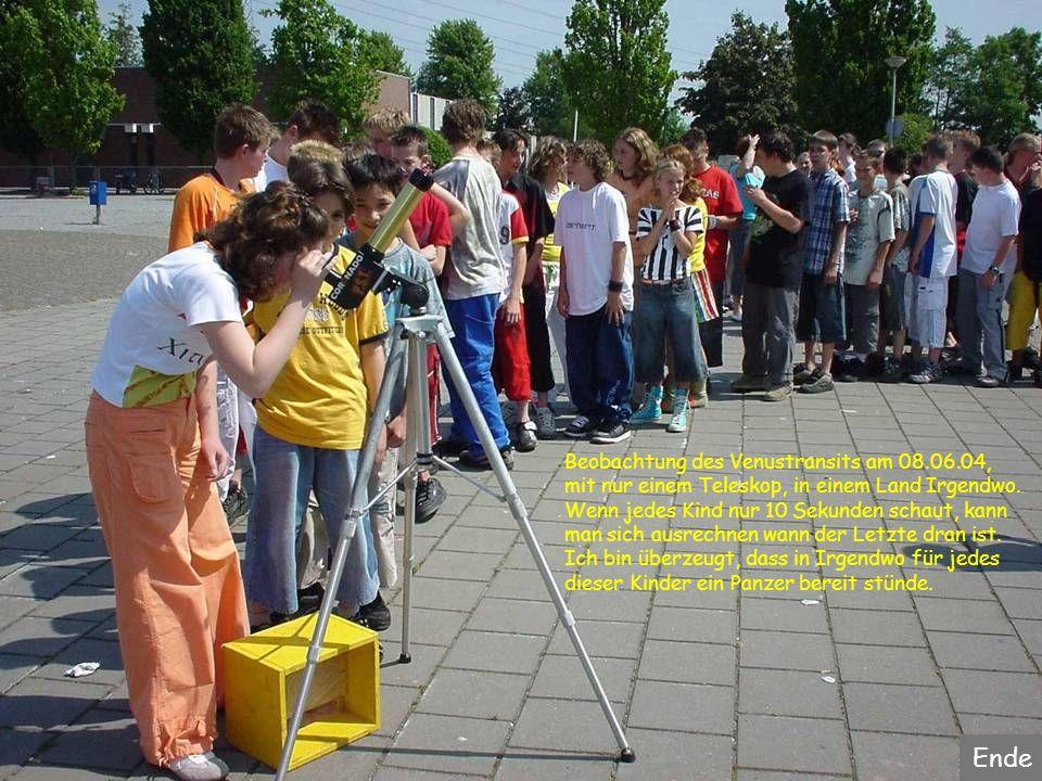 Ende Beobachtung des Venustransits am 08.06.04,