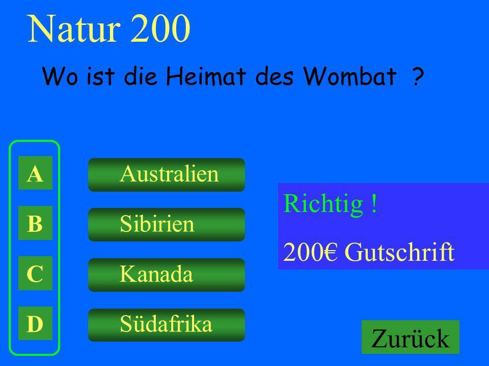 Natur 200 Falsch ! Keine Gutschrift Richtig ! 200€ Gutschrift Zurück