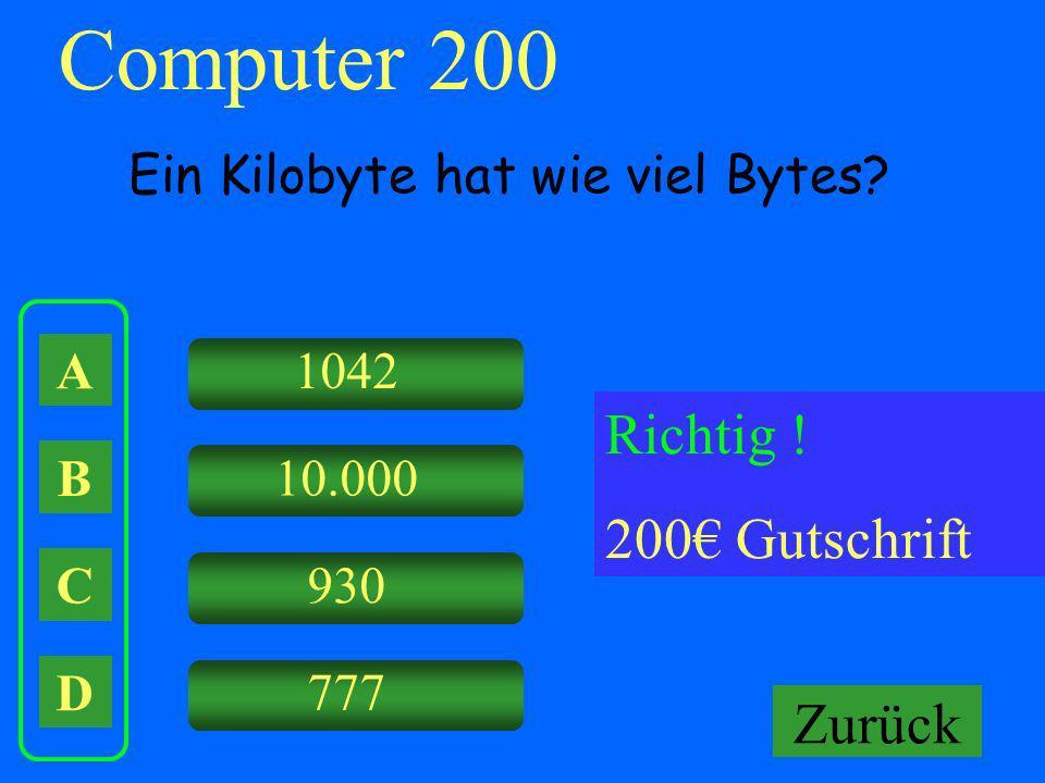 Computer 200 Falsch ! Keine Gutschrift Richtig ! 200€ Gutschrift