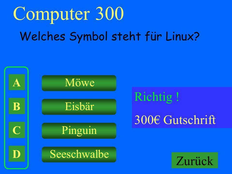 Computer 300 Richtig ! 300€ Gutschrift Falsch ! Keine Gutschrift