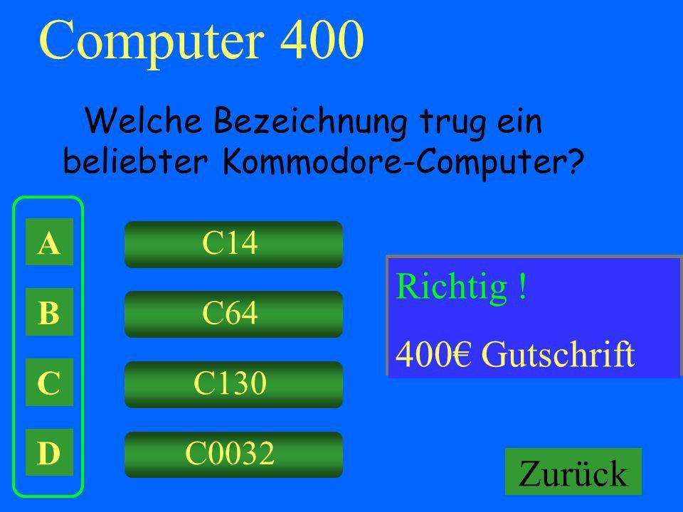 Computer 400 Falsch ! Richtig ! Keine Gutschrift! 400€ Gutschrift