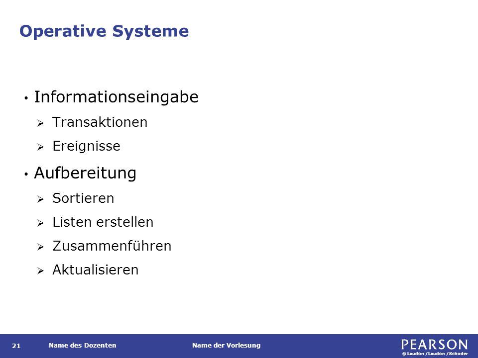 Operative Systeme Informationsausgabe Benutzer Detaillierte Berichte