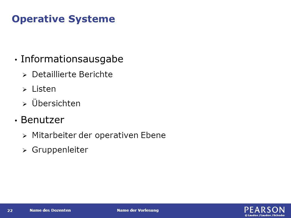 Operative Systeme