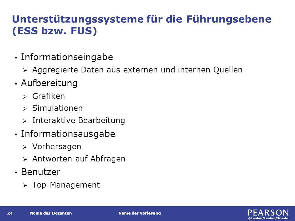Unterstützungssysteme für die Führungsebene (ESS bzw. FUS)