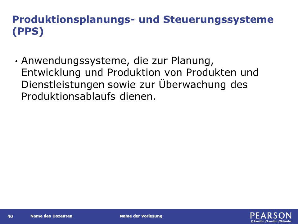 Beispiele für PPS-Systeme auf verschiedenen Organisationsebenen
