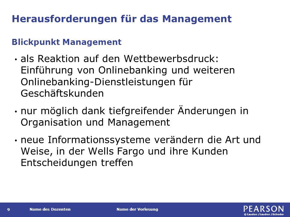 Herausforderungen für das Management