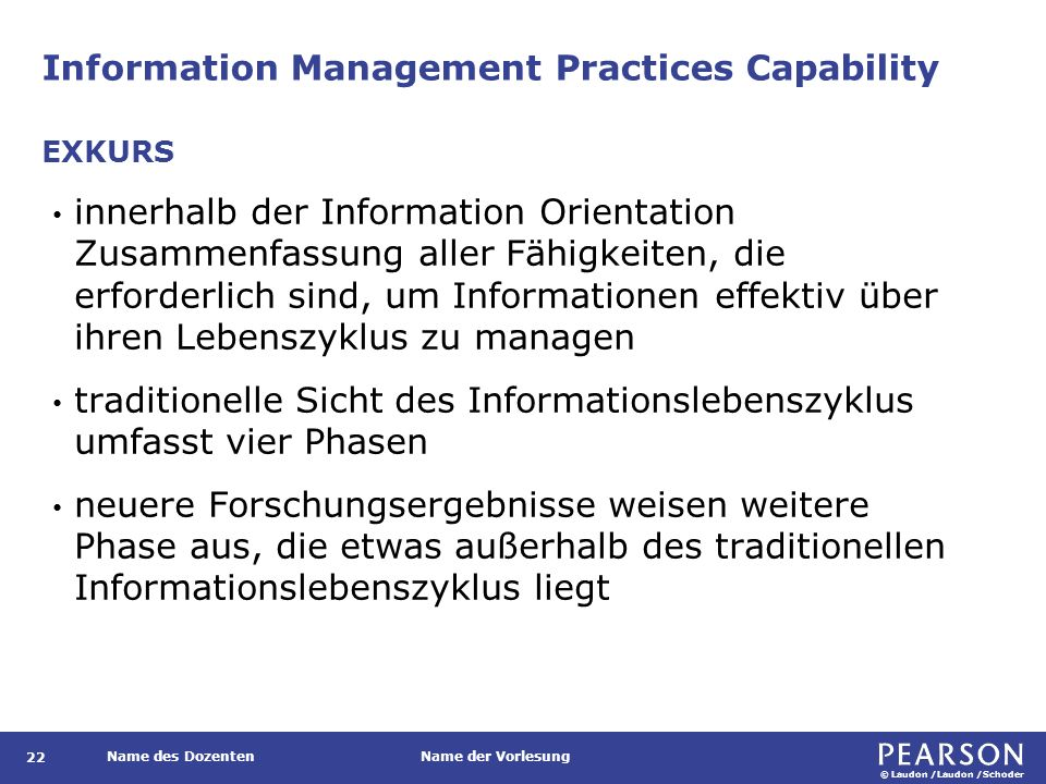 Information Management Practices Capability