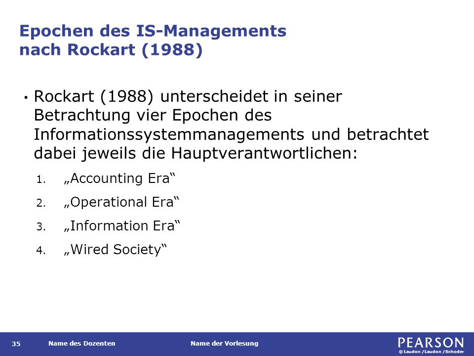 Phasen des Informationsmanagements nach Teubner (2003)