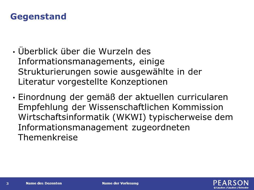 Gliederung Gegenstand und Ziel. Strukturierungen und Konzeption. Informationsmanagement im Wandel.