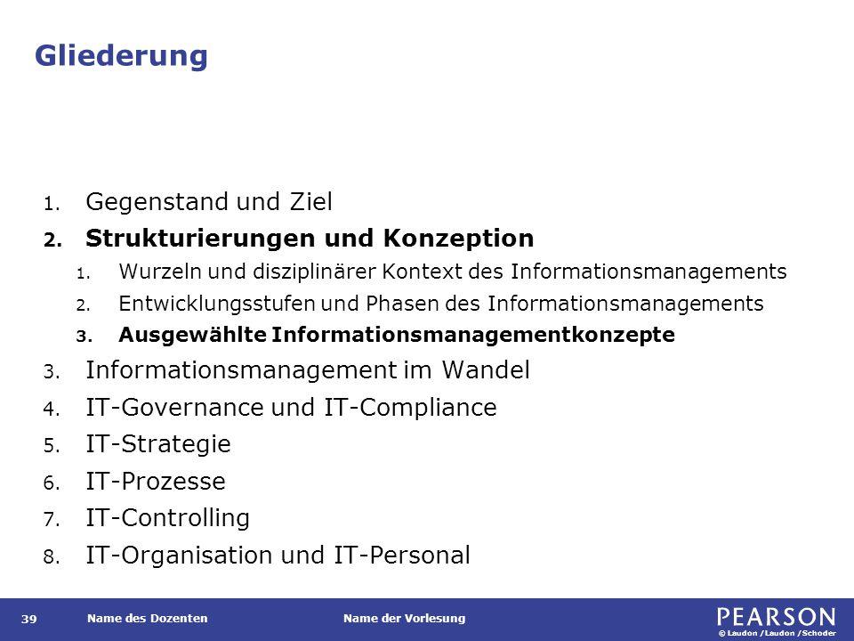 Ausgewählte Informationsmanagementkonzepte