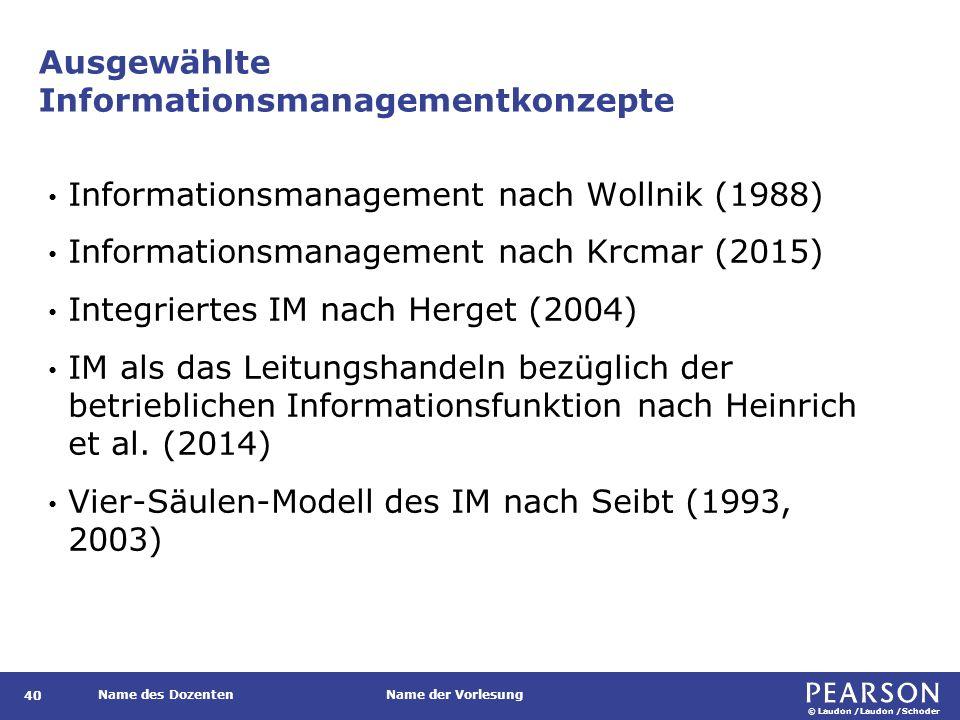 Ebenenmodell des Informationsma- nagements nach Wollnik, 1988