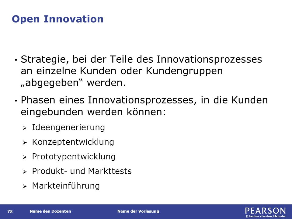 Open Innovation Methoden, die eine Kundenintegration in den Innovationsprozess zum Ziel haben: Lead-User-Methode.