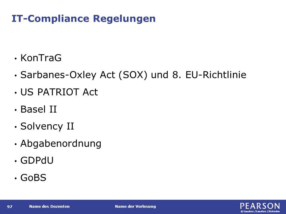 Prinzipien guter Governance nach ISO/IEC 38500