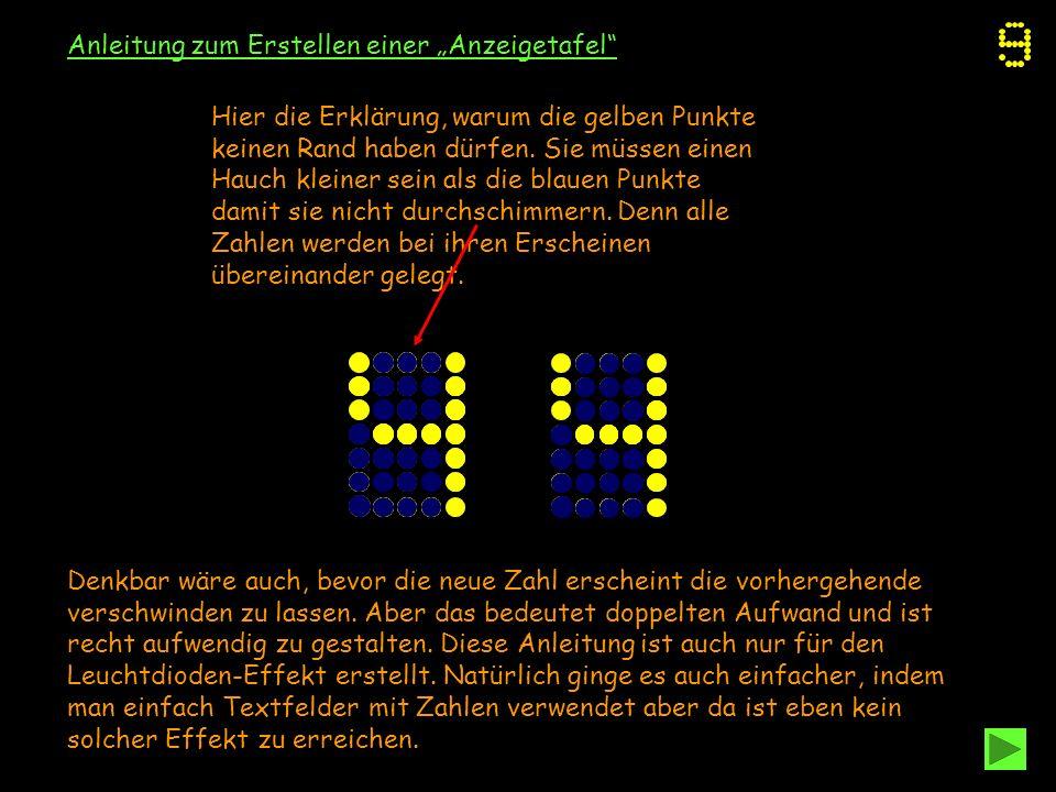 """Anleitung zum Erstellen einer """"Anzeigetafel"""