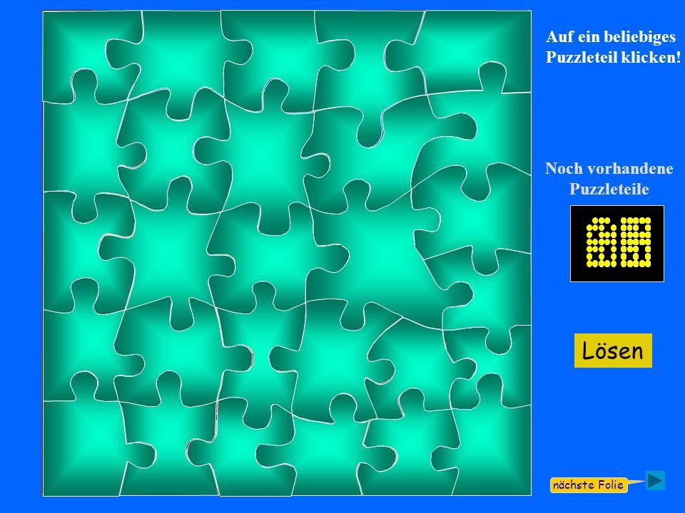 Lösen Noch vorhandene Puzzleteile Exit Läuft automatisch.