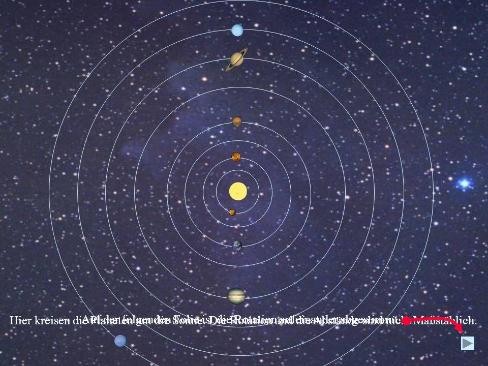 Hier kreisen die Planeten um die Sonne