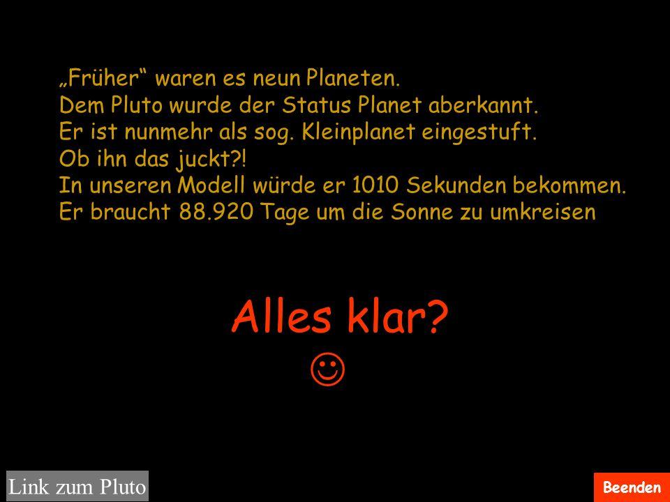 """Alles klar  """"Früher waren es neun Planeten."""