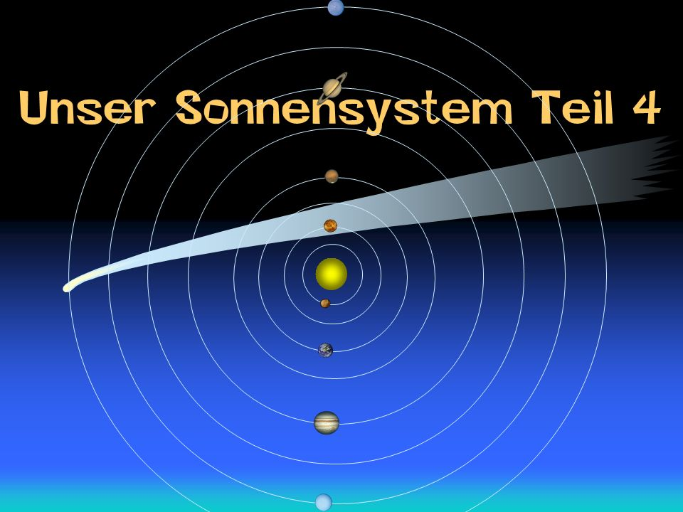 Unser Sonnensystem Teil 4