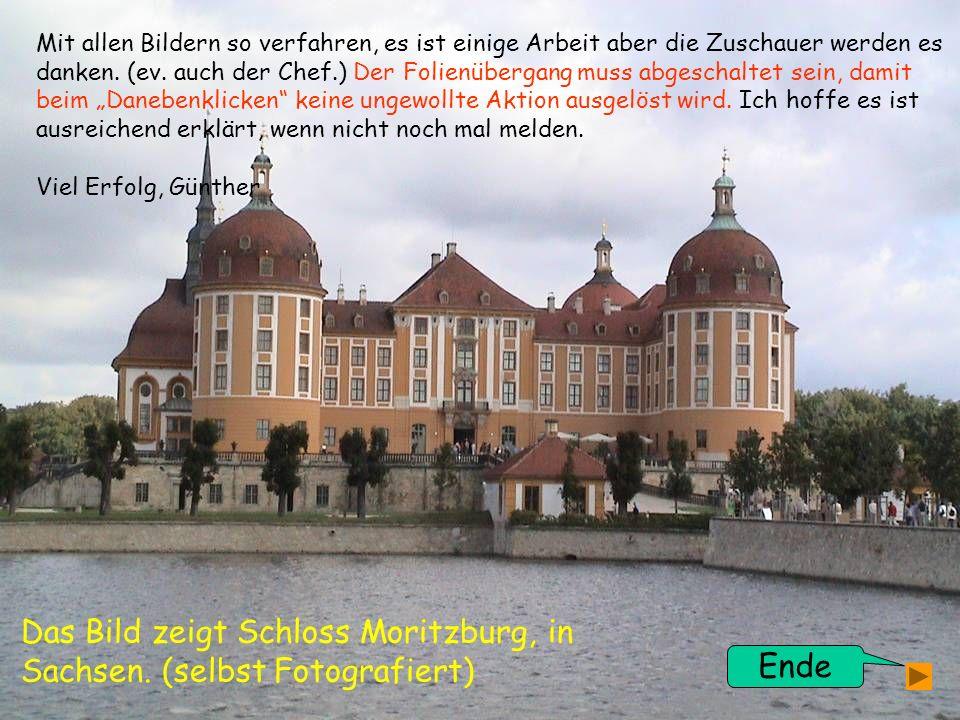 Das Bild zeigt Schloss Moritzburg, in Sachsen. (selbst Fotografiert)
