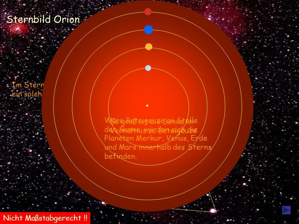 Sternbild Orion Beteigeuze Im Sternbild Orion befindet sich